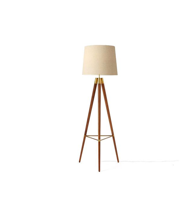 West Elm Mid-Century Wood Tripod Floor Lamp