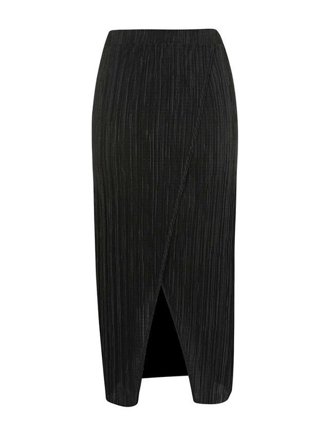 Topshop Plisse Wrap Midi Skirt