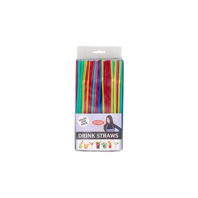 Ms Fix-It Party Straws Multicoloured