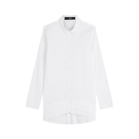 Oversized Shirt with Pleated Hem