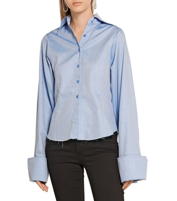 Marques' Almeida Embellished Cotton-Poplin Shirt