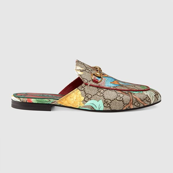 Gucci Princetown Floral Jacquard Slipper