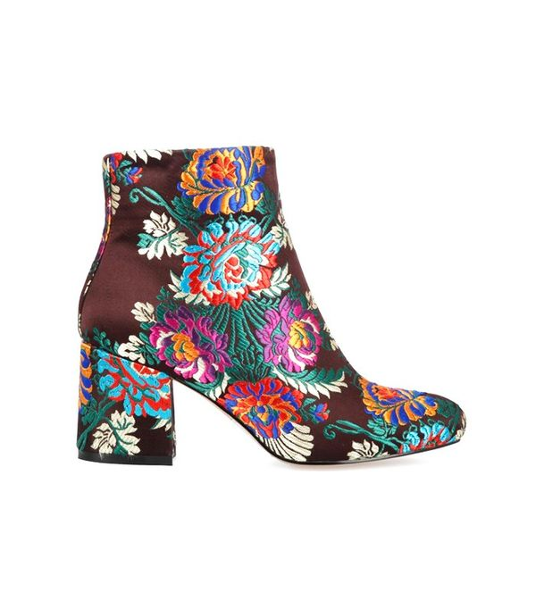 Ego Louisa Floral Print Multi Colour Ankle Boot