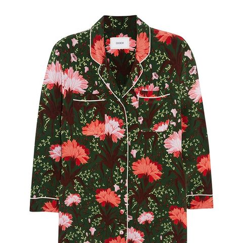 Floral-Print Silk-Satin Blouse