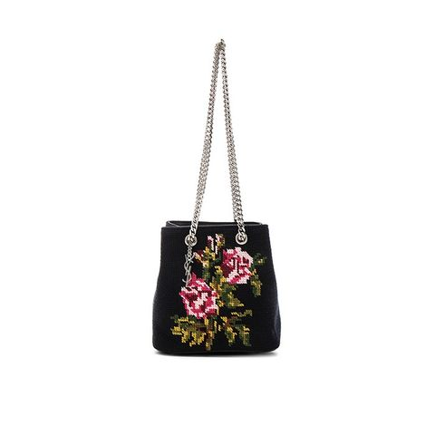 Baby Floral Embroidery Emmanuelle Bucket Bag