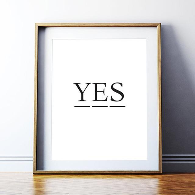 Etsy Art Digital Print 'Yes'
