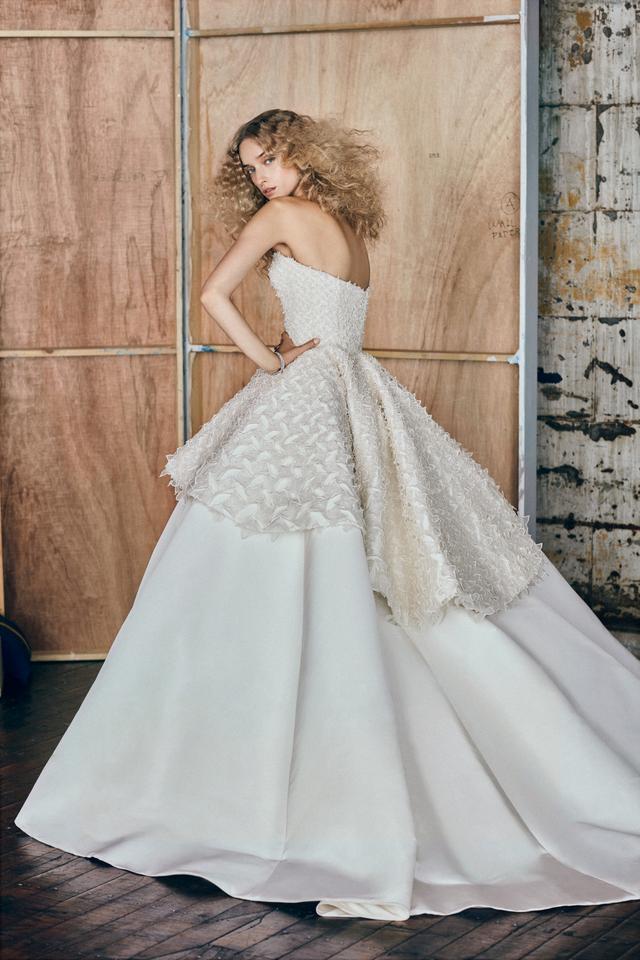 Elizabeth Kennedy Strapless Tiered Gown