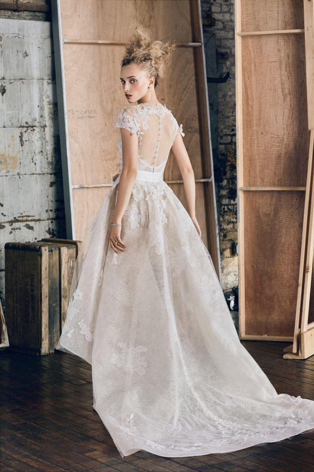 Monique Lhuillier Hawthorn Cscading Gown