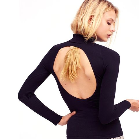 Open Back Layering Turtleneck