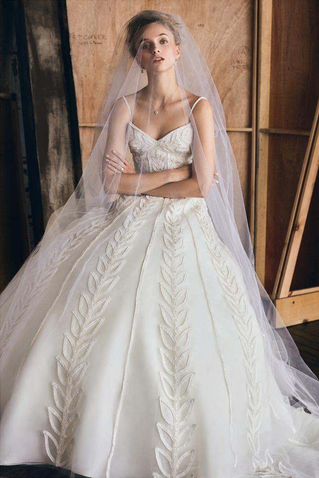 Elizabeth Kennedy Sweetheart Foliage Gown