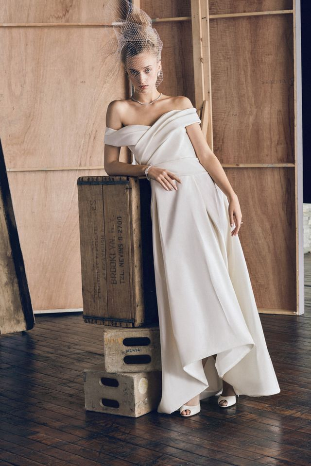 J.Mendel Off-the-Shoulder Gown