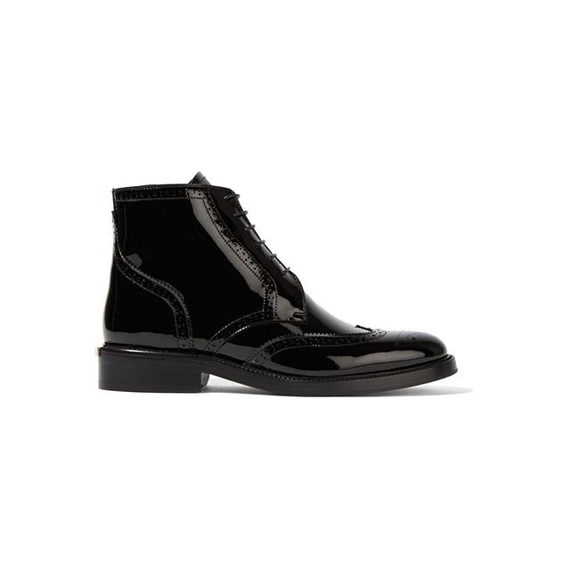Burberry London London Patent-Leather Ankle Boots