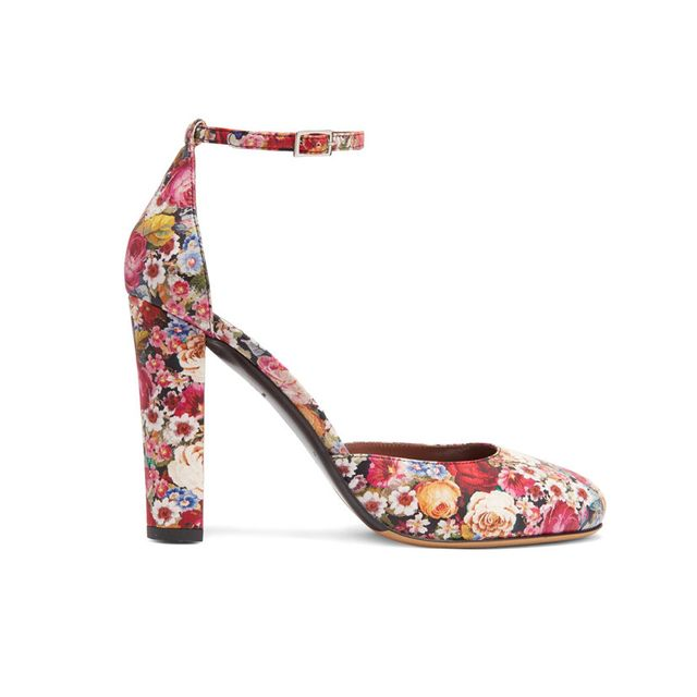 Tabitha Simmons Petra Floral Print Leather Pumps