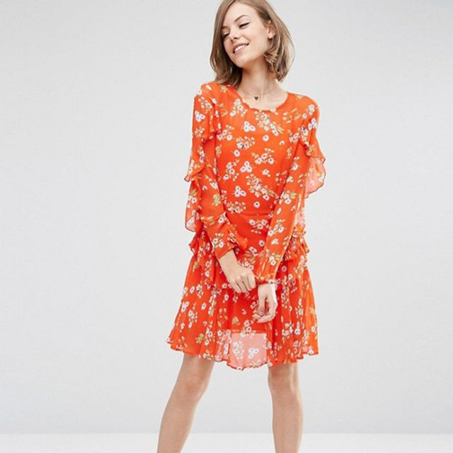 ASOS Ruffle Tea Dress