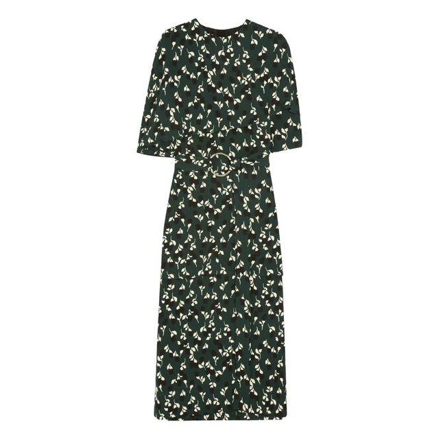 Marni Floral Print Crepe Mini Dress