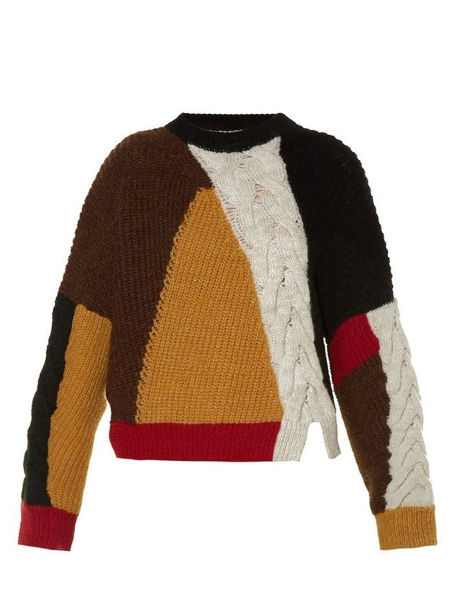 Isabel Marant Étoile Gao Contrast-Panel Sweater