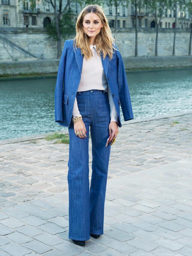 On Olivia Palermo: Paul & Joe DenimBlazer(£325) andHigh Rise Straight Leg Jeans(£185).