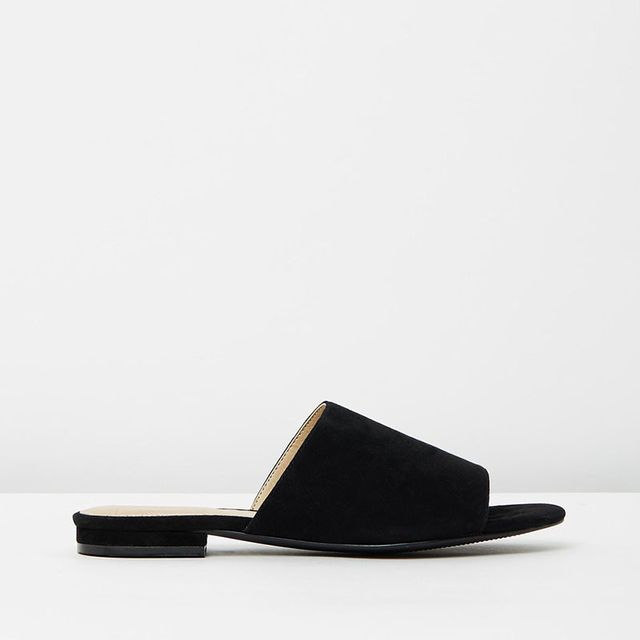Atoms & Here Ventana Suede Slides