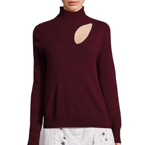 Wool & Cashmere Cutout Sweater