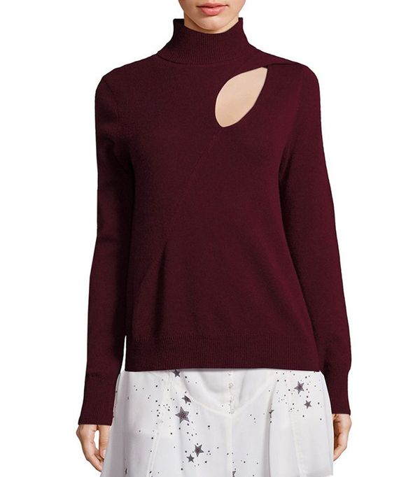 A.L.C. Wool & Cashmere Cutout Sweater