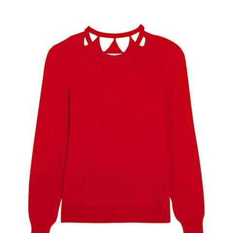 Woodward Cutout Merino Wool Sweater