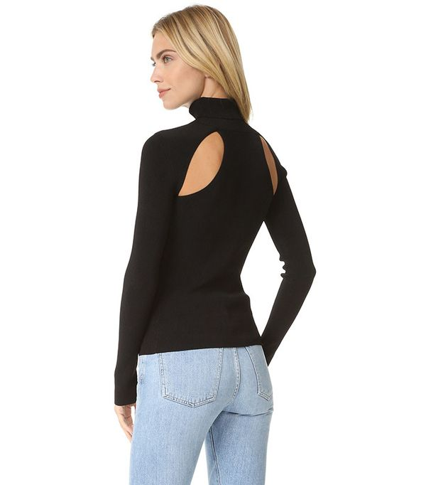 Elizabeth and James Renner Cutout Turtleneck Sweater