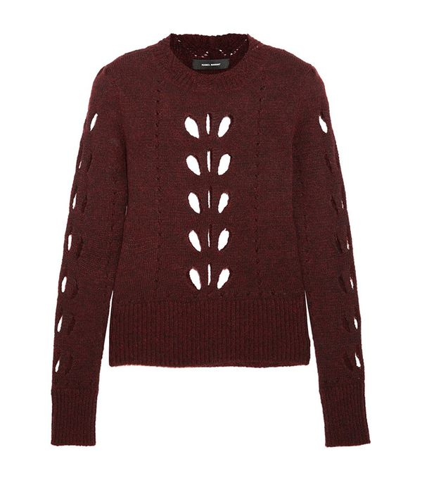 Isabel Marant Ilia Cutout Pointelle-Knit Sweater