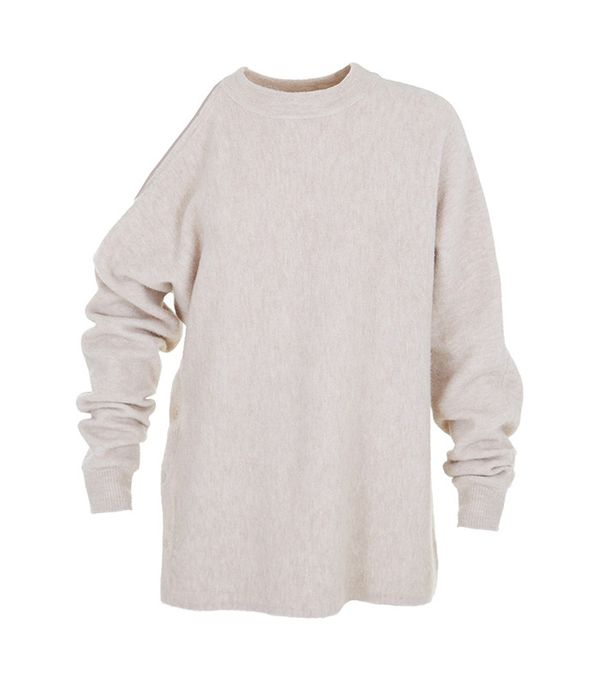 Tibi Tibi Cozy Boiled Cut Out Shoulder Sweater