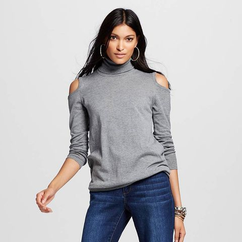 Open Shoulder Tunic Sweater