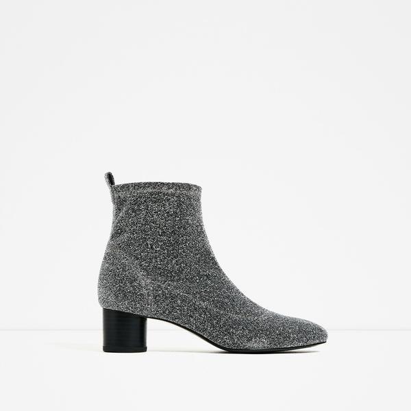 Zara Shiny Socky Ankle Boots