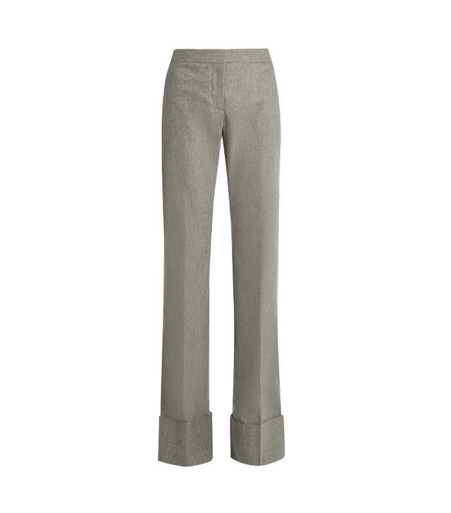 Stella McCartney Flared Wool and Cashmere-Blend Trousers