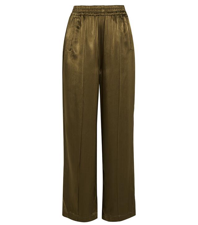 Ganni Satin Wide-Leg Pants