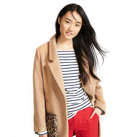 Wool-Blend Everyday Coat