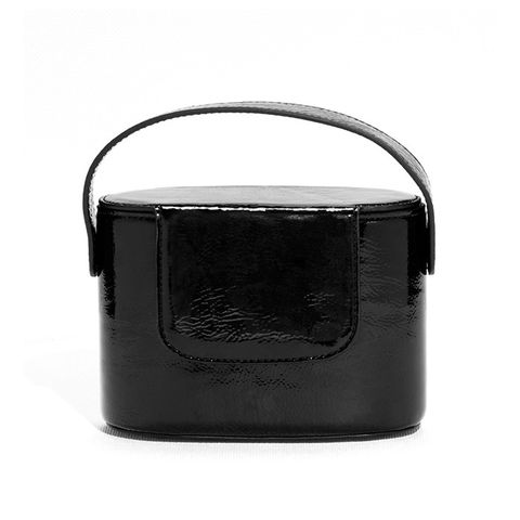 Cracked Patent Leather Box Clutch