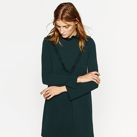 Dress with Chest Frill
