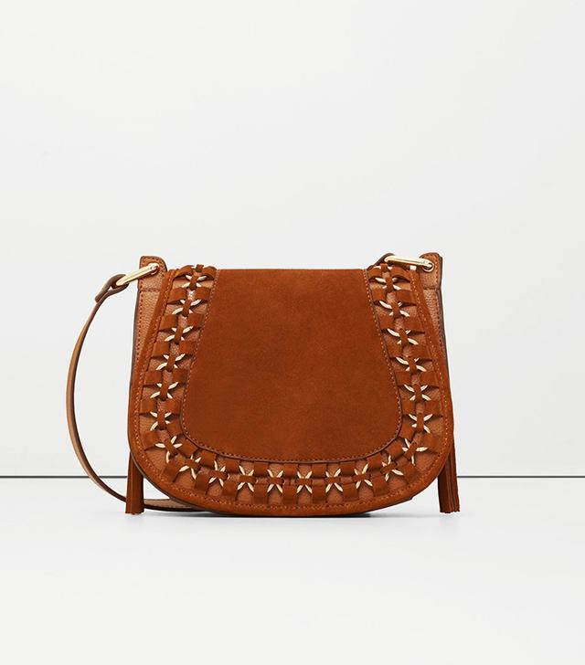Mango Appliqué Leather Bag