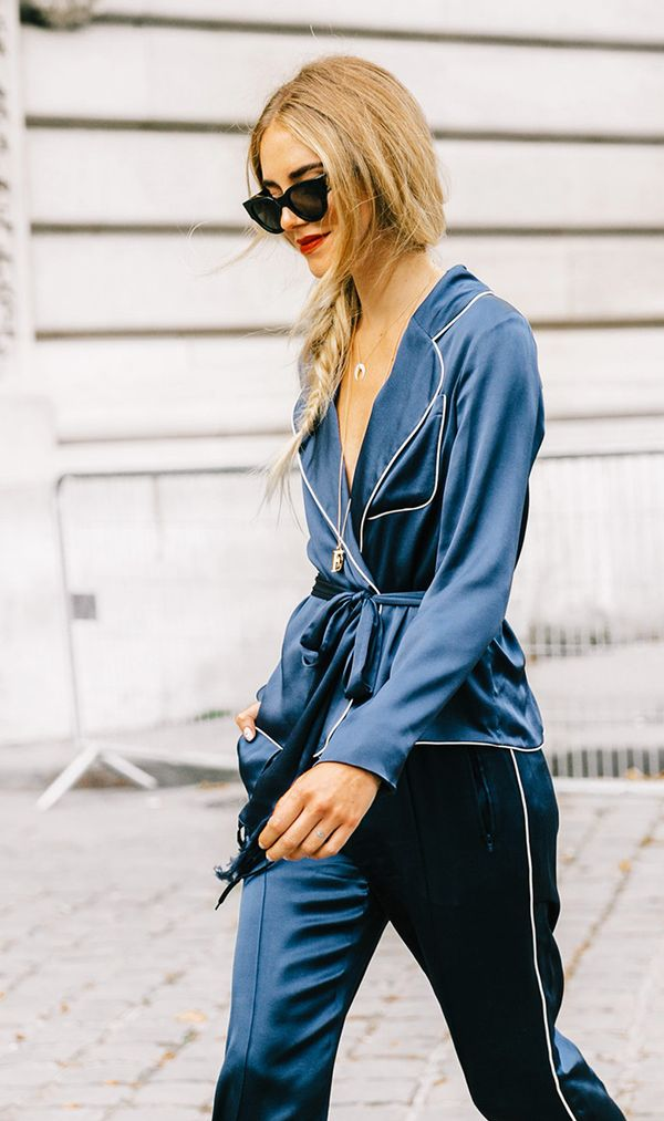 Chloe Carven Balmain Pajama Trend at Paris Fashion Week
