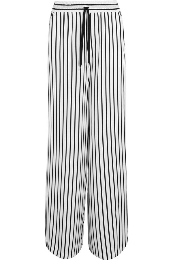 MCQ Alexander McQueen Japan Striped Twill Wide-Leg Pant