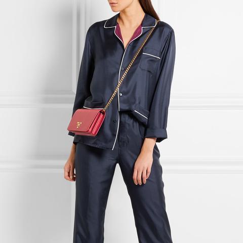 Silk-Twill Pajama Set
