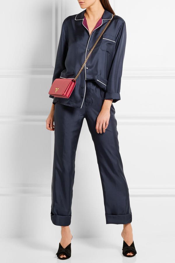 Prada Silk-Twill Pajama Set
