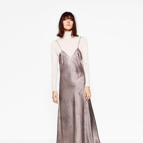 Silk Feel Batik Dress