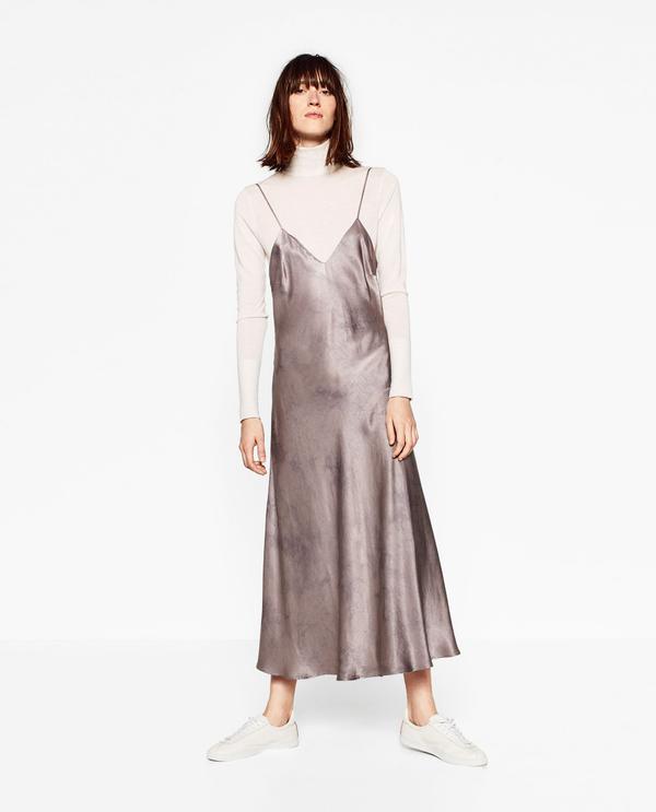 Zara Silk Feel Batik Dress