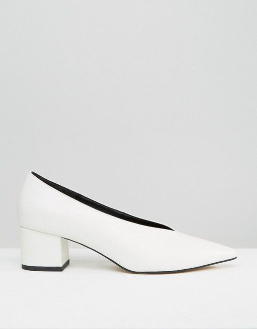 Zara Leather Mid Heel Shoes
