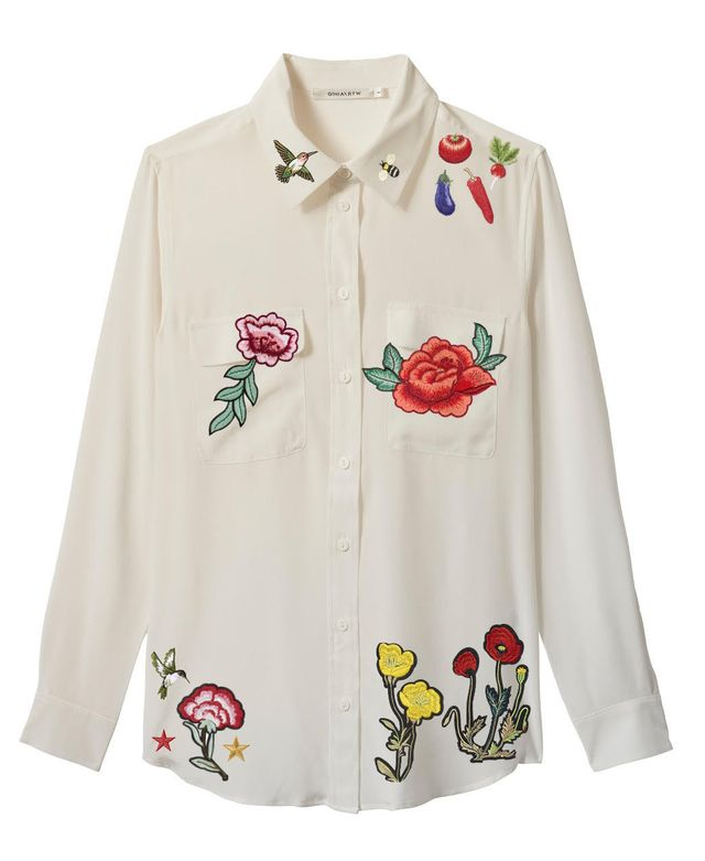Ginia RTW Bespoke Applique Shirt