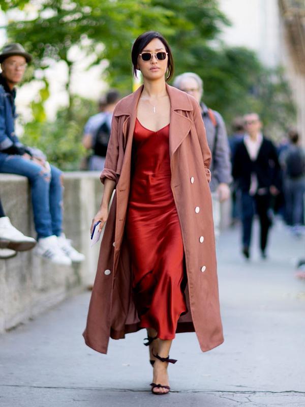 Slip Dress + Duster Coat