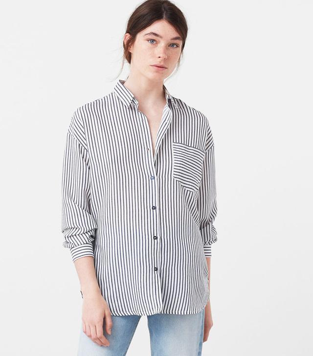 Mango Embroidered Stars Shirt