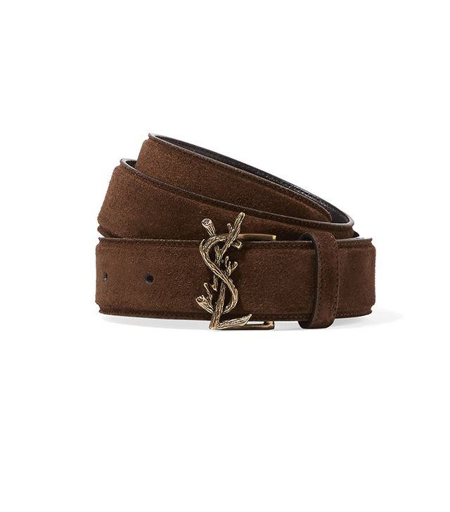 Saint Laurent Suede Waist Belt