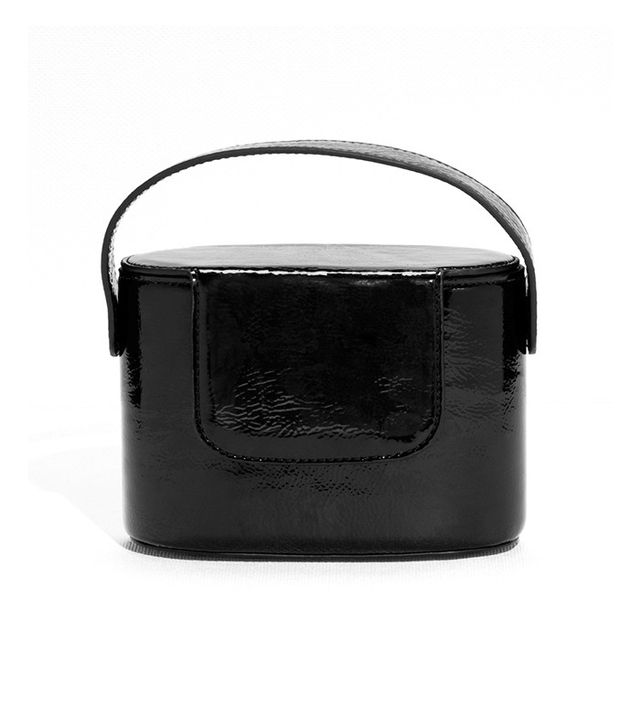 & Other Stories Cracked Patent Leather Box Clutch