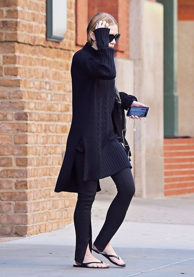 Treggings and Flip-Flops? Ashley Olsen Says Yes