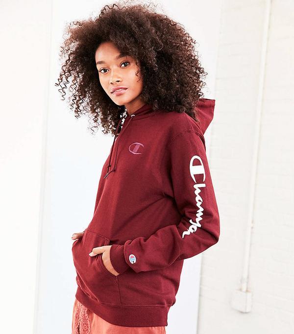 Champion + UO Maroon Hoodie Sweatshirt